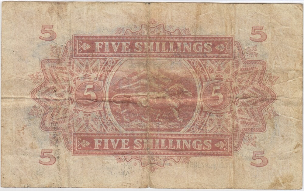 East Africa 1951 5 Shillings Pick#28a Very Fine product image