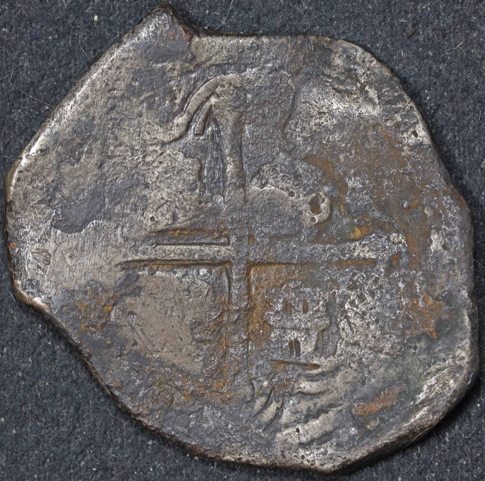 Mexico ca 1652 Silver 8 Reales ex Gilt Dragon Shipwreck Very Good WAM Cert # 2033 product image