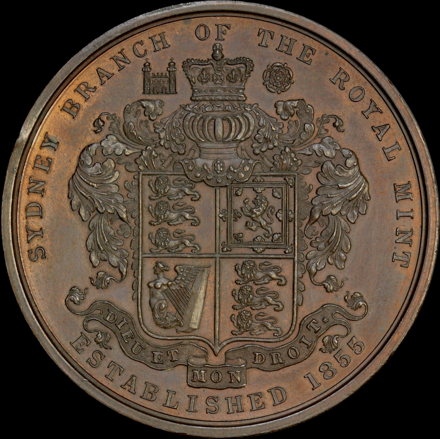 The Sydney Mint Medallion of 1901 - Reverse