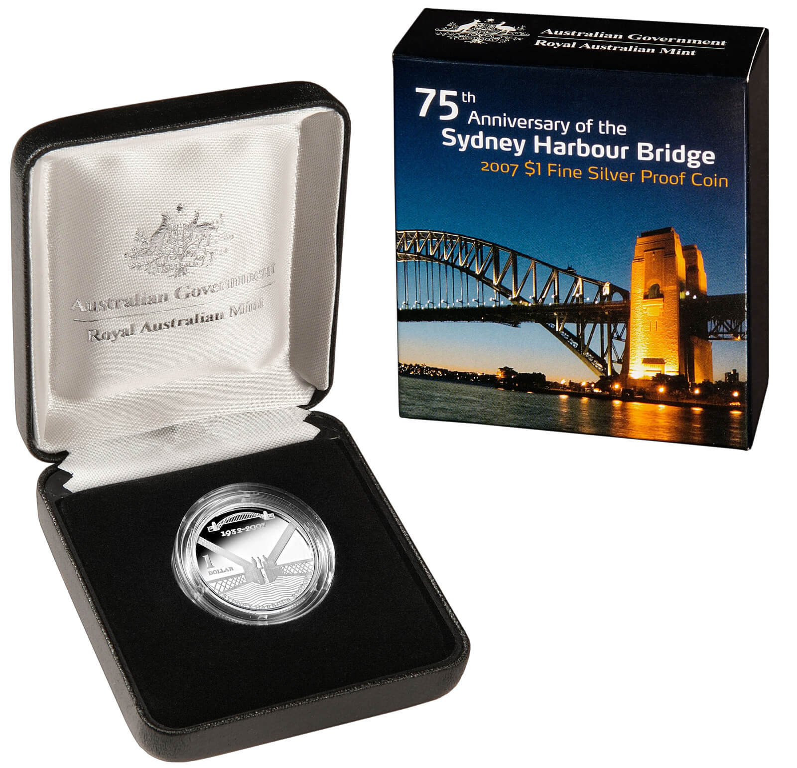 2007 One Dollar Silver Proof Sydney Harbour Bridge product image