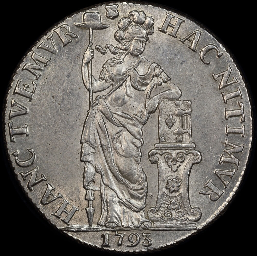 Netherlands (Utrecht) 1793 Silver Three Guilder KM#117 Uncirculated product image