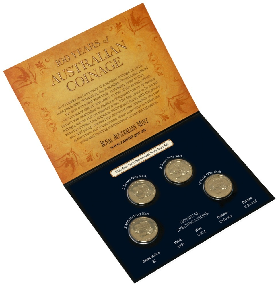 2010 Four Coin Privy Mark Set 100 Years of Coinage product image
