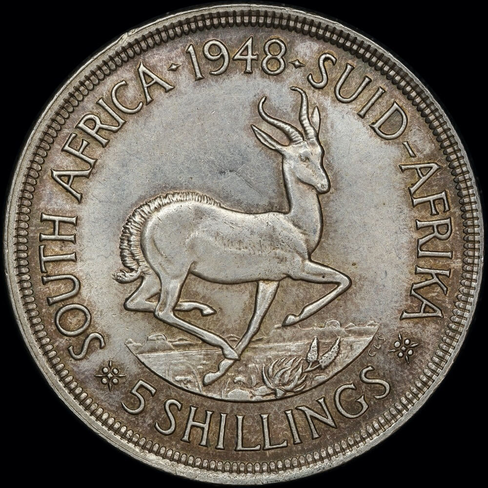South Africa 1948 Silver 5 Shillings KM#40.1 Uncirculated product image