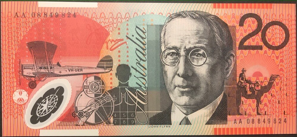 2008 $20 Note Stevens/Henry First Prefix R421bF Unc product image