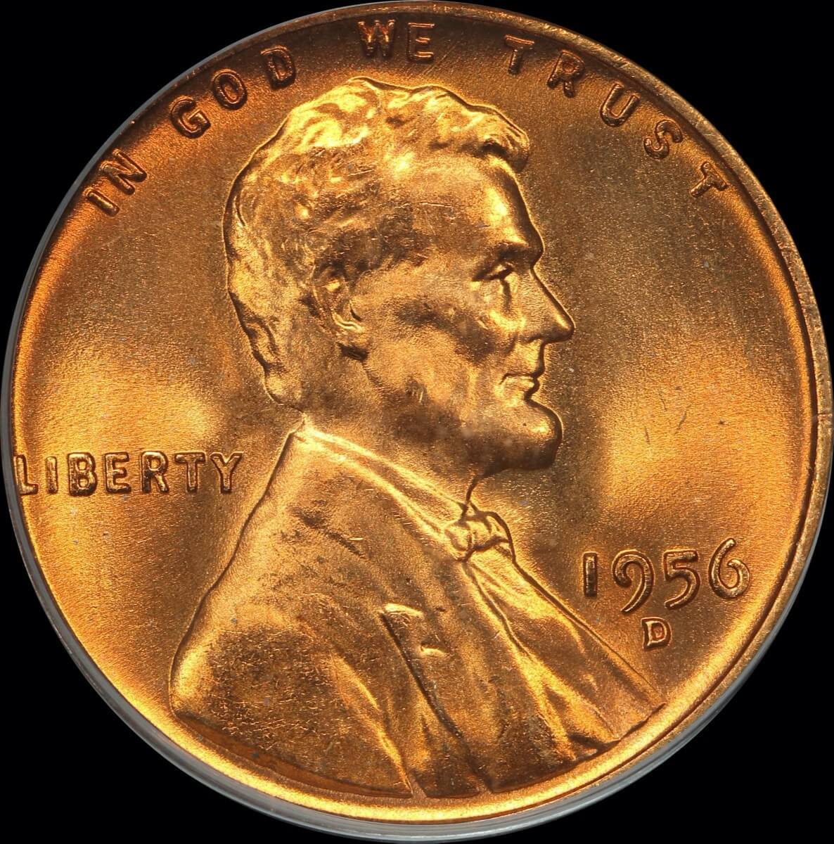 United States 1956-D Copper Cent KM# A 132 PCGS MS66RD product image