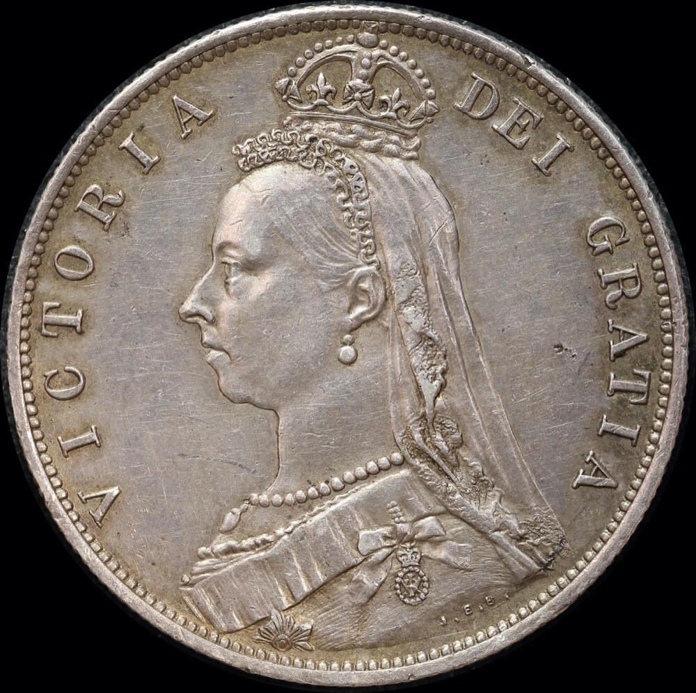 1888 Silver Halfcrown Victoria S#3924 Extremely Fine product image