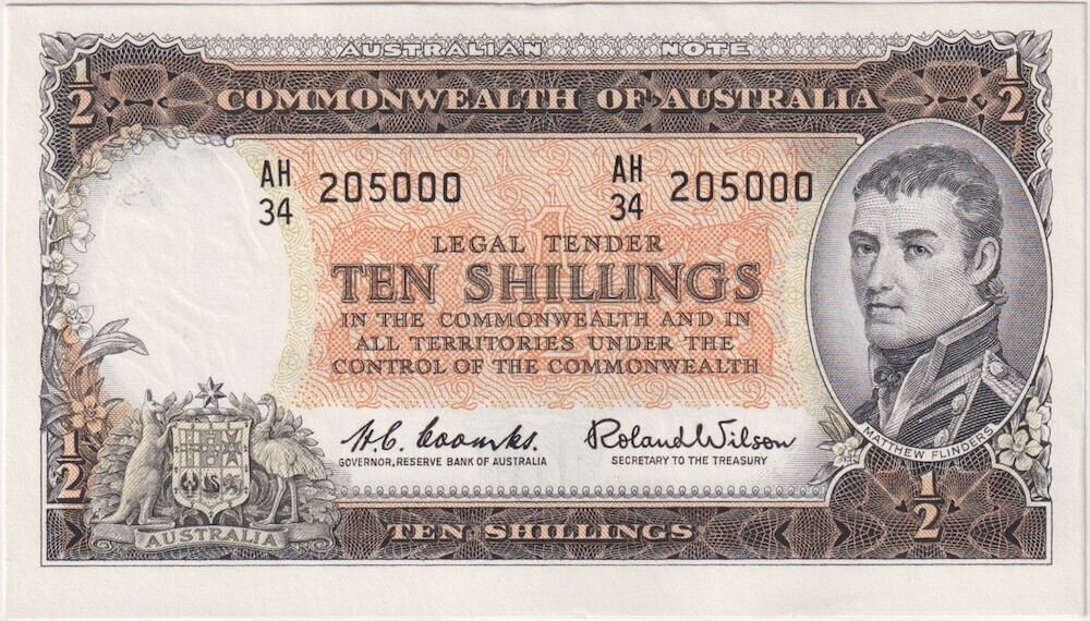 1961 Ten Shilling Coombs/Wilson R17 Uncirculated product image