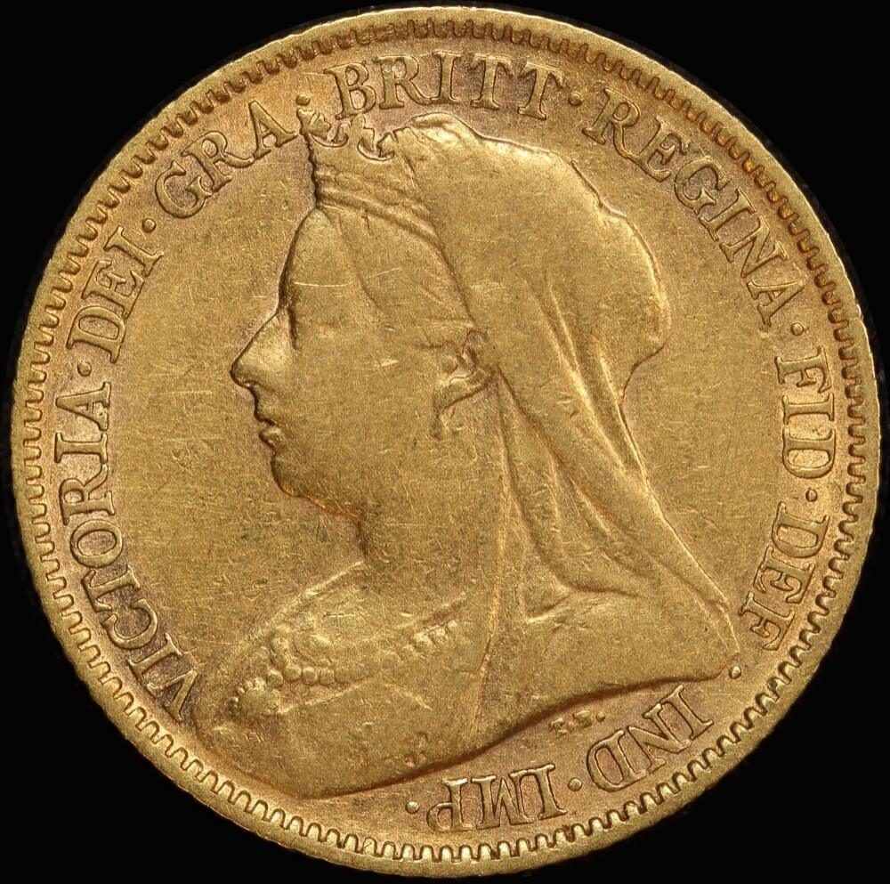1900 Perth Veiled Head Half Sovereign about VF product image