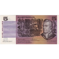 1976 $5 Note Gothic Serials Centre Thread Knight/Wheeler R206A Uncirculated