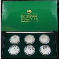 1988 Bicentennial Sterling Silver Medallion Set 12.67 ozt ASW