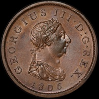 1806 Copper Penny George III S#3780 Uncirculated