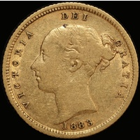 1883 Sydney Young Head Half Sovereign Fine