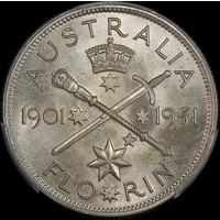 1951 Florin Federation Jubilee Commemorative Choice Uncirculated (MS63)