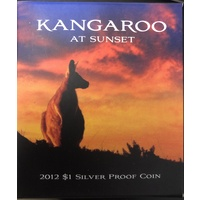 2012 Silver $1 Proof Kangaroo at Sunset