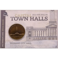 2012 5 Dollar Antique Uncirculated Capital Town Halls Coin - Brisbane