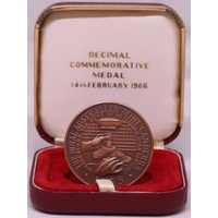 Royal Australian Mint Medallion Bronze 1966 Introduction of Decimal Currency  Uncirculated