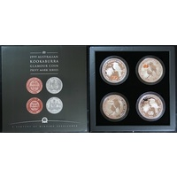 1999 Silver 2oz Kookaburra Glamour Coin Privy Mark Series Set in Case