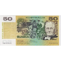 1976 $50 Note Gothic Serials Side Thread Knight/Wheeler R506B Uncirculated
