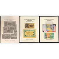 Australian Banknote Auction Sales Books by Mick Vort Ronald (1972 - 2015)
