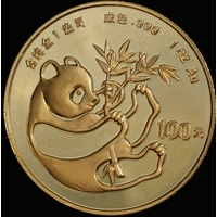 China (People's Republic) 1984 Gold 100 Yuan Panda KM#91 UNC