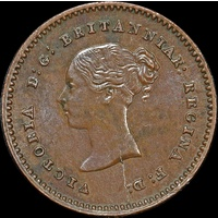 1852 Copper Quarter Farthing Victoria S#3953 Uncirculated