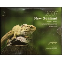 New Zealand 2007 Uncirculated Mint Coin Set KM#MS61 Tuatara