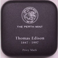 1997 Silver One Ounce Unc Privy Mark Edison