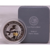 1998 Silver Two Ounce Unc Privy Mark Shield Reverse