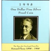 1998 One Dollar Silver Proof Coin Howard Florey