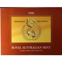 Australia 1986 Uncirculated Mint Coin Set Year Of Peace