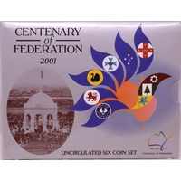 Australia 2001 Uncirculated Mint Coin Set - Centenary of Federation