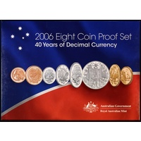 Australia 2006 Proof Coin Set Decimal Currency