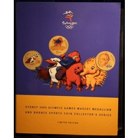 Sydney 2000 Bronze Olympic 28 Coin And Mascot Medallion Set