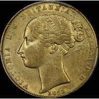 1856 Sydney Mint Type I Sovereign good EF (PCGS AU 55)