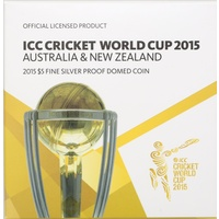 Australia 2015 5 Dollar Silver Proof Coin ICC Cricket World Cup