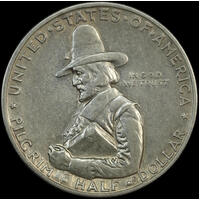United States 1920 Silver Half Dollar Pilgrim Tercentenary about Unc