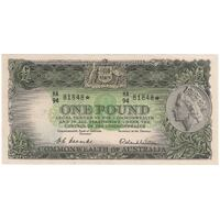 1953 One Pound Star Note Coombs/Wilson R33S good VF