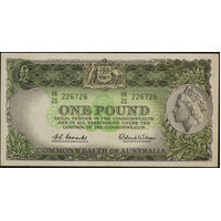 1961 One Pound Coombs/Wilson R34A Extremely Fine