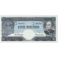 1960 Five Pound Coombs/Wilson R50 Uncirculated