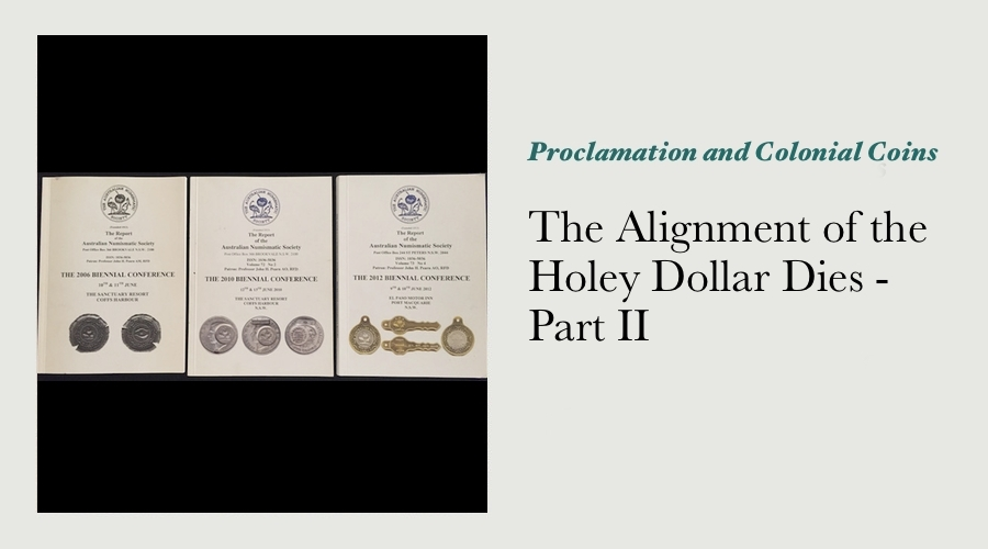 The Alignment of the Holey Dollar Dies - Part II main image